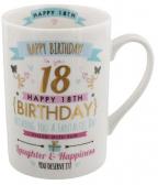 Šolja -  18th Birthday, Pink & Gold Design