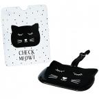 Tag za kofer i futrola za pasoš - Animal Friends, Cat