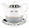 cajnik - tea4one mini black stripes
