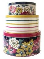 Dekorativne kutije set/3 - Floral 3 Cake Tins