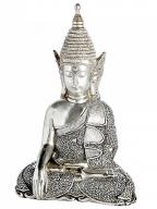 Figura - Sitting Buddha, silver