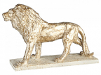 Skulptura - Lion, gold/white