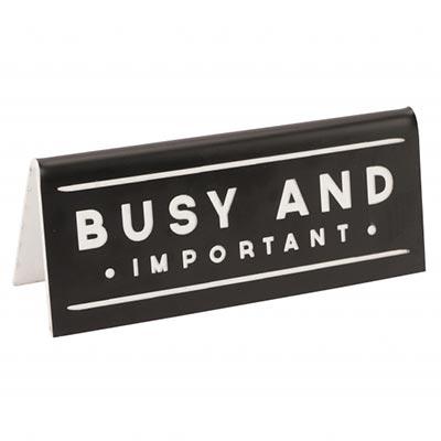 Stona poruka - Busy And Important Black