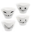 cinije set4 - teacat white cat