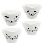 Činije set/4 - Teacat, White Cat