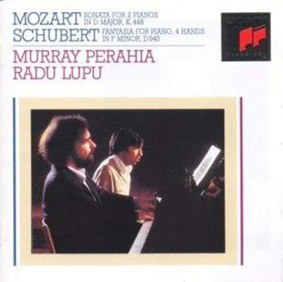 MOZART: SONATA FOR 2 PIANOS IN D MAJOR. SCHUBERT: FANTASIA FOR PIANO, 4 HANDS IN F MINOR