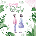 Čestitka - Today is the perfect day to be happy