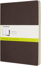 moleskine cahier journal soft cover xl plainblank coffee brown