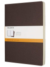 moleskine cahier journal soft cover xl ruledlined coffee brown