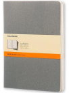 moleskine cahier journal soft cover xl ruledlined pebble grey