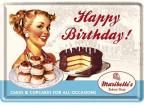 Čestitka - Nostalgic Art, Happy B.Cake