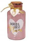 led lampa - worlds best mum light up jar