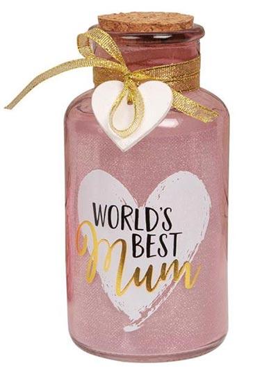 Led lampa - Worlds Best Mum Light Up Jar