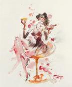 Razglednica - Corto Lady Luna Champagne