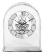 Stoni sat - Silver Arch Mantel Clock Skeleton Dial