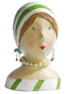 Figura - Ladyhead With Green Stripes
