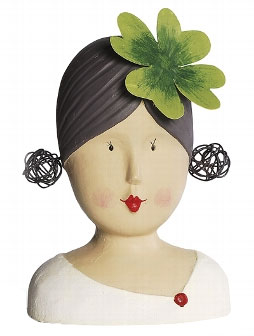 Figura - Ladyhead With Shamrock