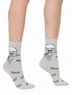 Ženske čarape kratke, svetlo siva - Delim radost, 35-37