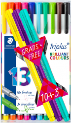 Fineliner Triplus 10+3 gratis