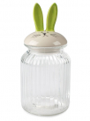 flasa - bottle with green rabbit