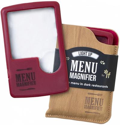Lupa Light Up Menu Magnifier Wine