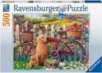 Ravensburger puzzle - Slatki psi u dvorištu