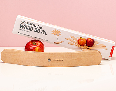 Boomerang Wood Bowl