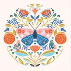 Čestitka - leptir