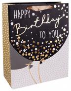Kesa - Happy Birthday, crno-zlatni baloni