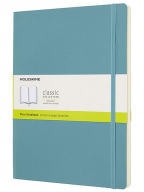 Moleskine Classic Plain Paper Notebook, Reef Blue