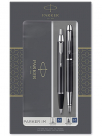 parker im duo gift set with ballpoint pen fountain pen gloss black with chrome trim