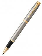 Parker IM Rollerball Pen, Brushed Metal, Fine Point Black Ink