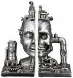 Držač za knjige - Steampunk Skull