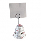 Foto holder - Weddingcake white/rose