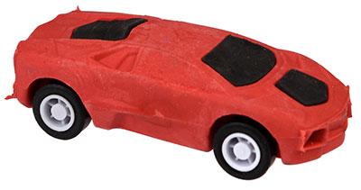 Gumica,Red - Pull Back Super Car