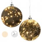 Lampa LED - Hangig Ball, Smoke Glass