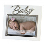 Ram za fotografiju - Baby white/silver