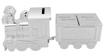 Set kasica i kutijica - Train Money Box & First Tooth/Curl