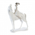 Skulptura - Girl on Horse white/silver