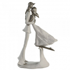 Skulptura - Hold me white/silver