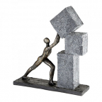 Skulptura - Stacking Poly, bronze/black