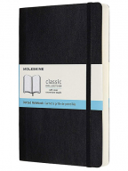 Moleskine - Classic Expanded Dotted Paper Notebook, Color Black