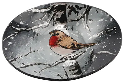 Činija - Winter Robin, S, Oval