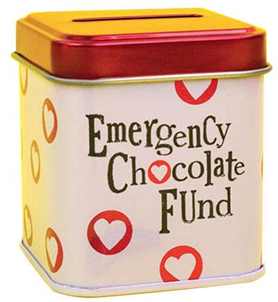 Kutija za sitnice - Brightside Emergency Chocolate Fund Tin