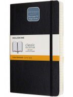 Moleskine - Classic Expanded Ruled Paper Notebook, Color Black