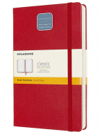 Moleskine - Classic Notebook Expanded, Ruled Notebook, Colour Scarlet Red