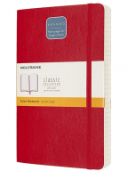 Moleskine - Classic Notebook Expanded, Soft Cover and Elastic Closure, Colour Scarlet Red