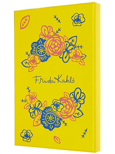 Moleskine Limited Edition Frida Kahlo Notebook, Notebook with Blank Pages and Hard Cover, Collector's Box, Yellow and Blue Colour