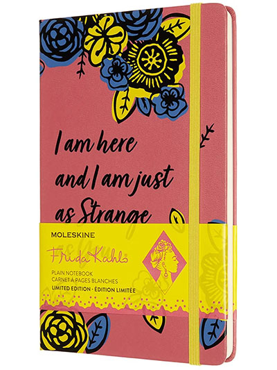 Moleskine Limited Edition Frida Kahlo Notebook, Notebook with Blank Pages, Pink Colour
