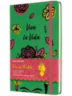 Moleskine Limited Edition Frida Kahlo Notebook, Notebook with Lined Pages, Green Colour